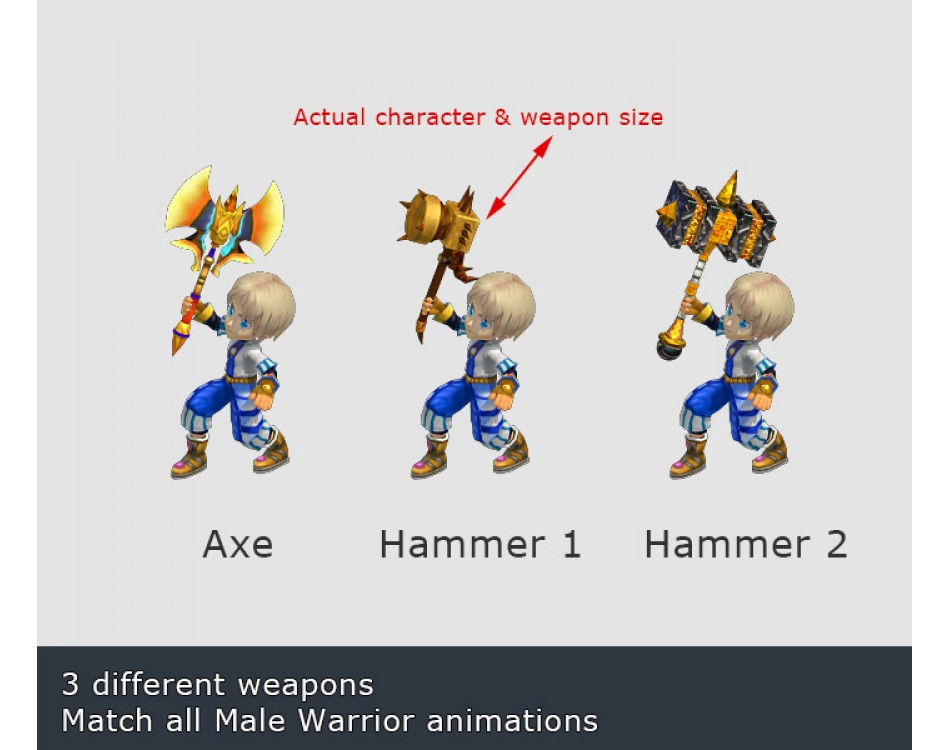 Male Warrior Weapons