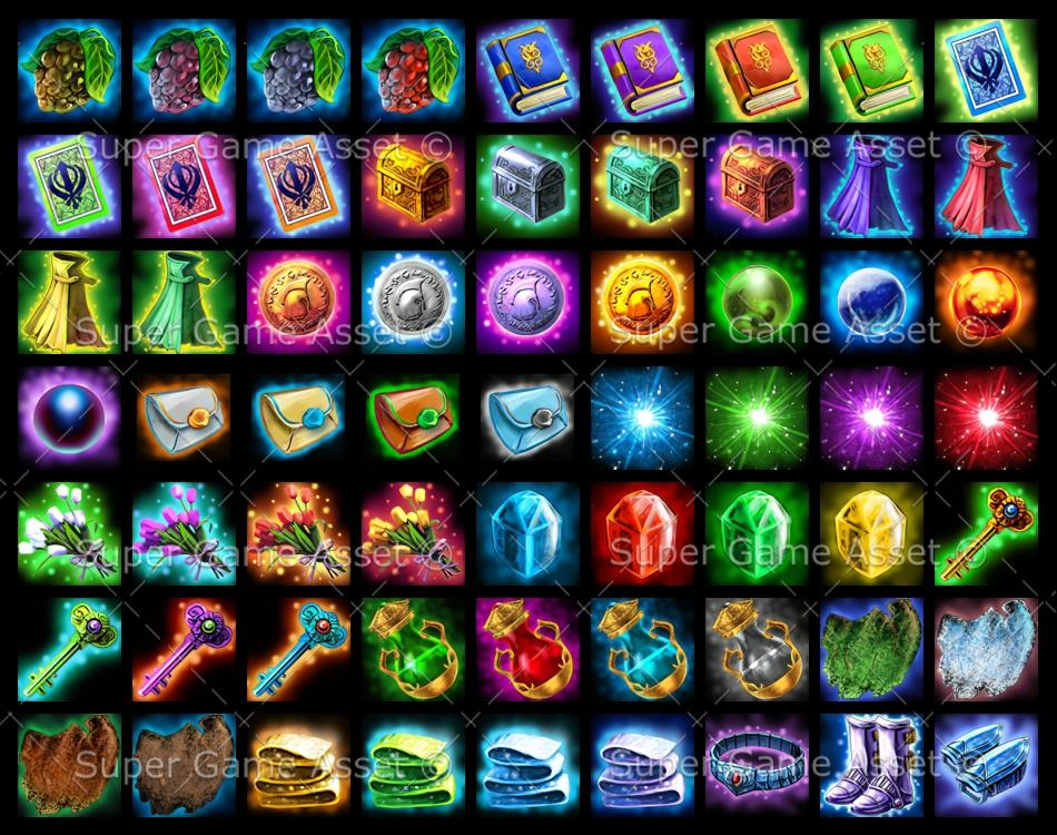Basic RPG Item Icons