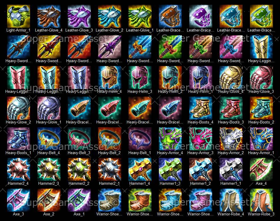 Epic RPG Equipment Icon Set