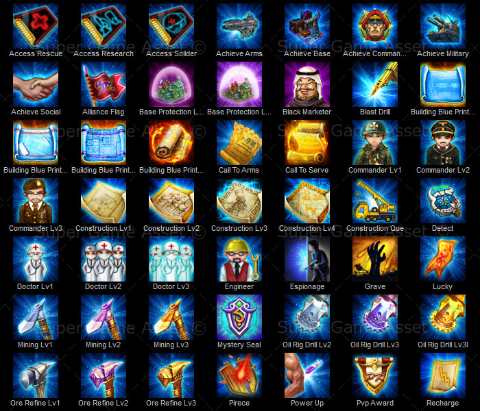 Strategy Game Ability Icons - game icons - Super Game Asset
