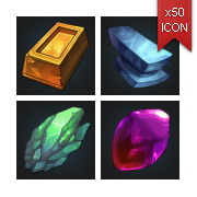 Metal & Mineral - RPG Crafting Icon set