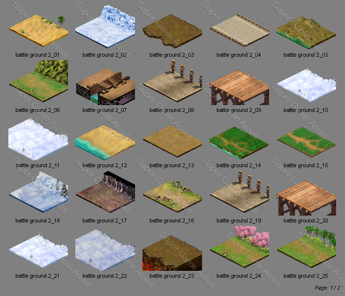 Isometric Battle Ground Set2