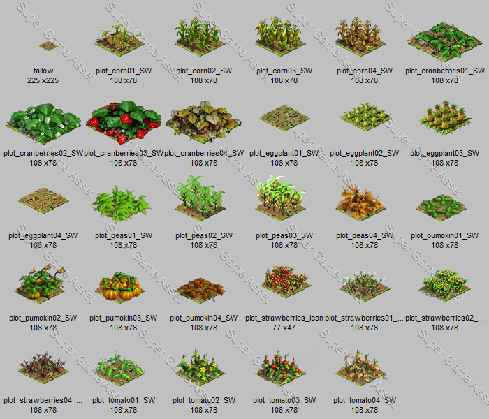 RPG farm crop sprites