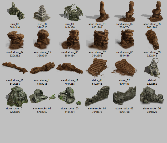 RPG real rock sprites