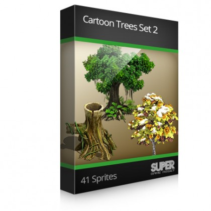 Cartoon Trees Set 2