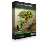 Cartoon Trees Set 1