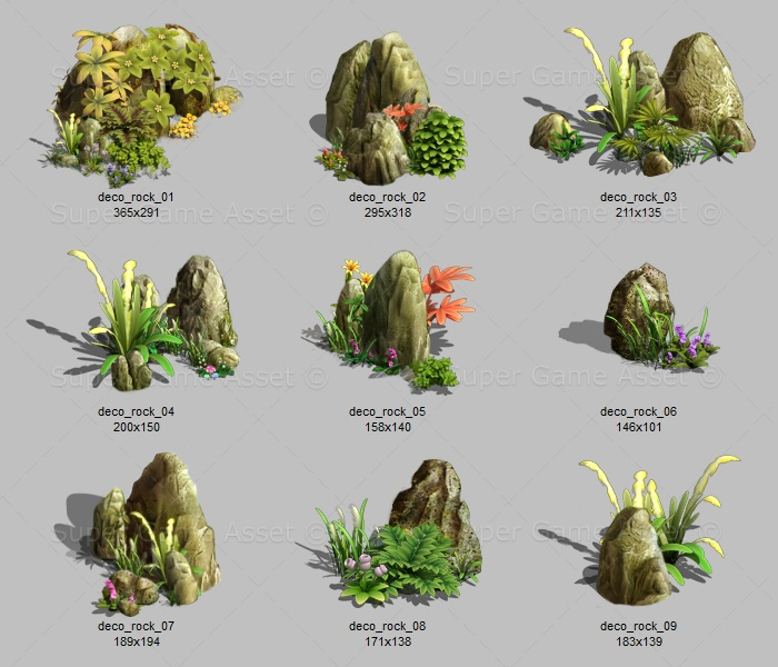 decoration rock sprites