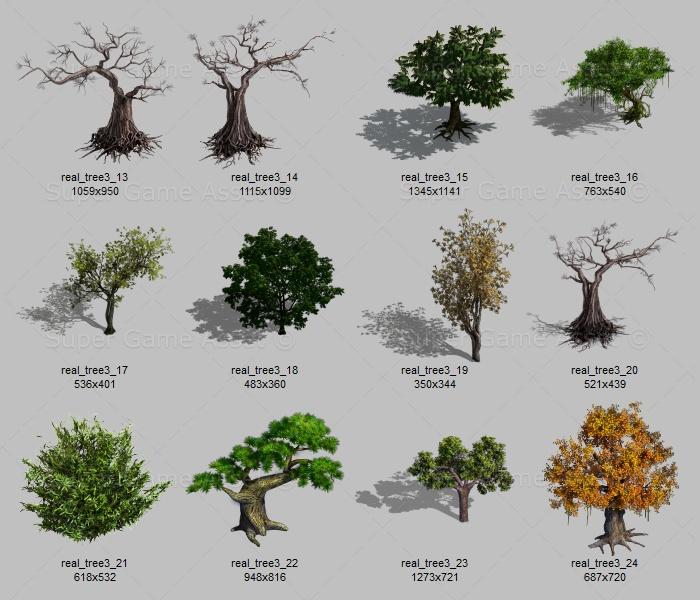 realistic tree sprites