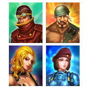 Simple RPG Hero Portraits