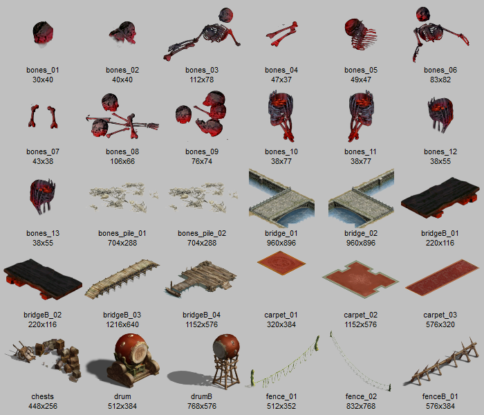 Desolate prop sprites