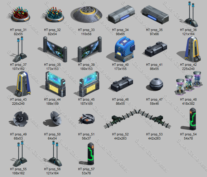 high tech prop sprites