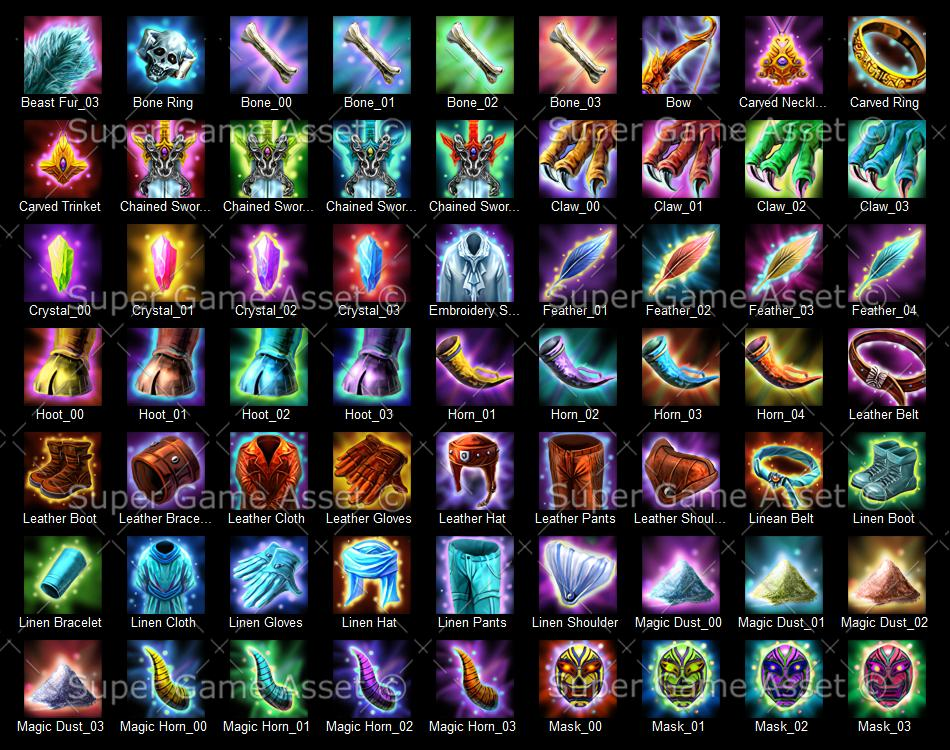 epic rpg item icons game icons super game asset